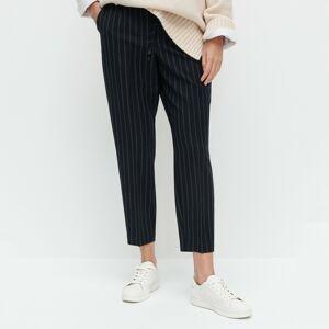 Reserved - Kalhoty s elastickým pasem - Tmavomodrá