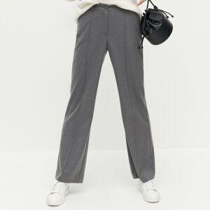 Reserved - Kalhoty se širokými nohavicemi - Šedá