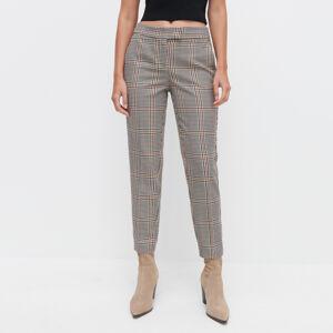 Reserved - Kostkované kalhoty cigaretového střihu - Vícebarevná