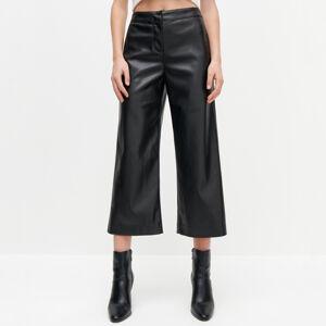 Reserved - Koženkové kalhoty - Černý