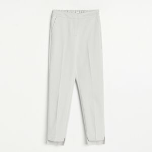 Reserved - Kalhoty chino se stahovacím pasem - Světle šedá