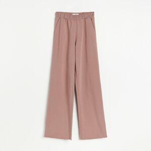 Reserved - Žerzejové kalhoty selastickým pasem - Fialová