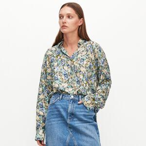 Reserved - Viskózová košile skvětinovým potiskem - Vícebarevná