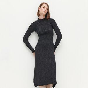 Reserved - Brokátové šaty - Černý