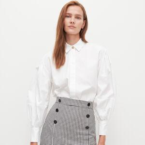 Reserved - Košile sbalonovými rukávy - Bílá