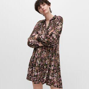 Reserved - Květované šaty - Černý