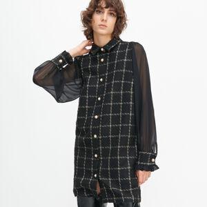 Reserved - Tvídové šaty - Černý