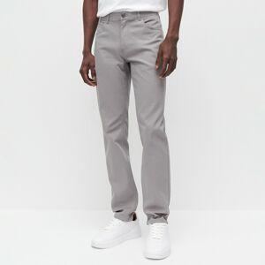 Reserved - Kalhoty SLIM FIT - Světle šedá