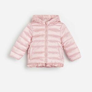 Reserved - Prošívaná bunda svolánovým lemem - Růžová