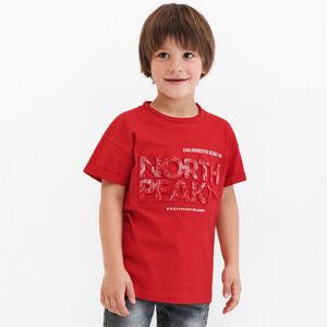 Reserved - Bavlněné tričko s3Dnápisem - Červená