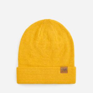 Reserved - Žlutá čepice sdekorativní nášivkou - Žlutá