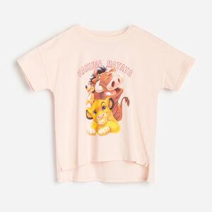 Reserved - Bavlněné tričko Hakuna Matata - Růžová