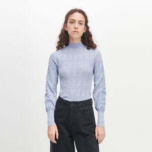 Reserved - Ažurový svetr - Modrá