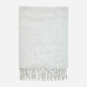 Reserved - Hladká šála svysokým podílem vlny - Světle šedá