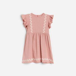 Reserved - Kojenecké šaty - Růžová