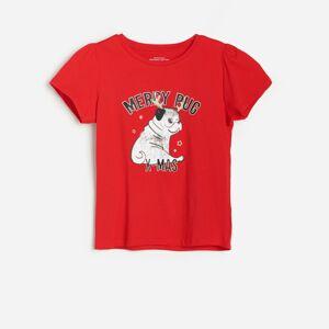 Reserved - Tričko s vánočním potiskem - Červená