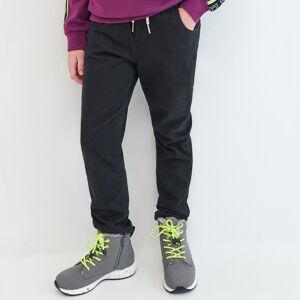 Reserved - Zateplené kalhoty joggers - Černý