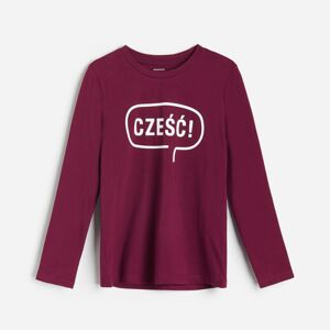 Reserved - Bavlněné tričko s nápisem - Fialová