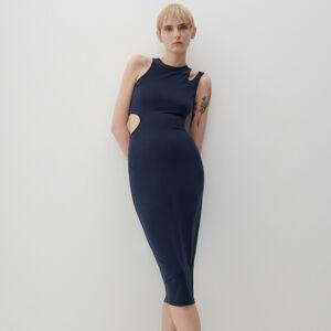 Reserved - Šaty z modalu - Tmavomodrá