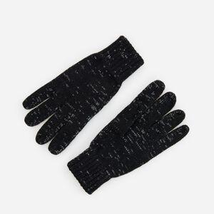 Reserved - Žerzejové rukavice - Šedá